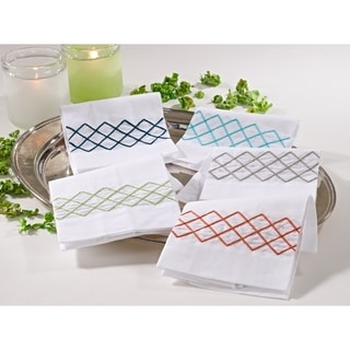Diamond Design Guest Towel (Set of 4)