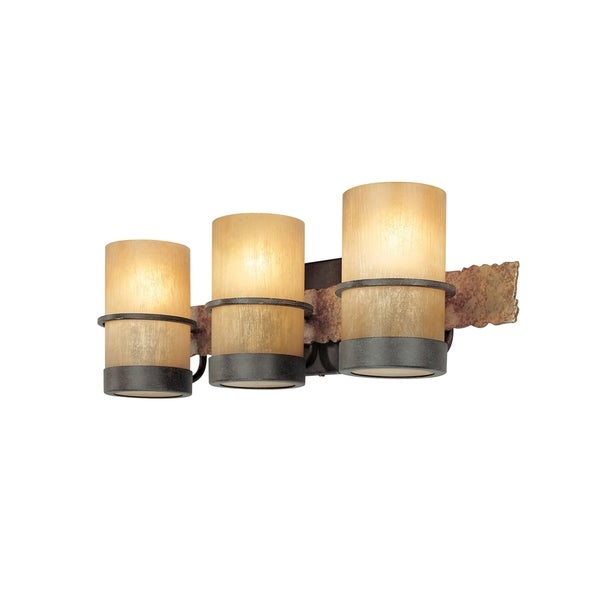 Bathroom Vanity Lights Overstock : Troy Lighting Bamboo 3-light Bath Vanity - 16685322 - Overstock.com Shopping - Top Rated Troy ...