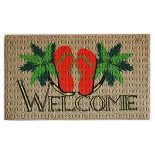 Flip-flop Welcome Indoor Mat (1'6 x 2'3)