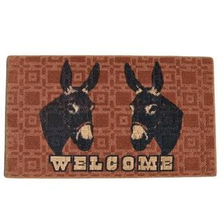 Donkey Welcome Indoor Mat (1'6 x 2'3)