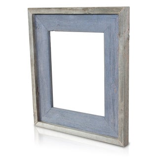 Natural Blue Sapphire Recycled/ Reclaimed Wood 8x10-inch Photo Frame