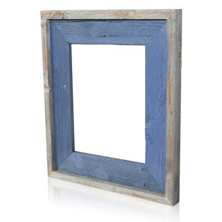Natural Deep Ocean Recycled/ Reclaimed Wood 8x10-inch Photo Frame