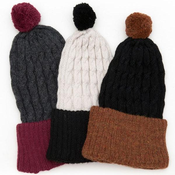 Hand-knit Chadwick Alpaca Wool Hat (Bolivia)