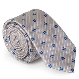 Vance Men's Silk Touch Microfiber Patterned Skinny Tie