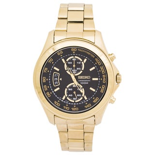 Seiko Men's SNN258 Sport Chronograph Goldtone Watch