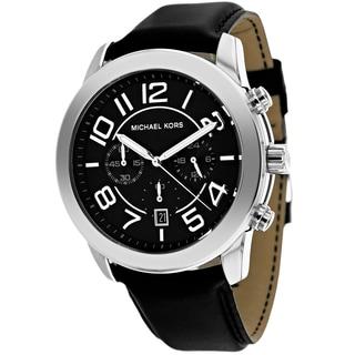 Michael Kors Men's MK8288 Mercer Black Leather Watch