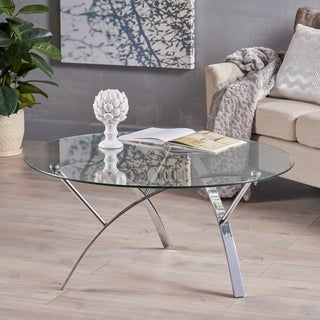Christopher Knight Home Marin Round Glass Coffee Table