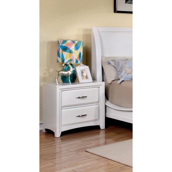 Furniture of America Lorraine Modern Two-drawer Nightstand