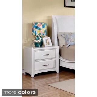 Furniture of America Lorraine Modern Two-drawer Nightstand