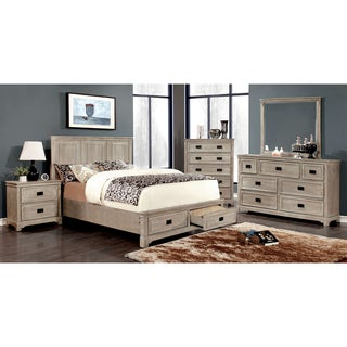 Furniture of America Bodric 4-piece Weathered Bedroom Set