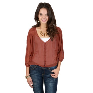 Hailey Jeans Co. Junior's Pintucked Lightweight Top
