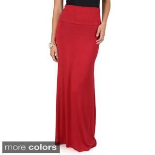 Hailey Jeans Co. Junior's Fold Over Top Maxi Skirt