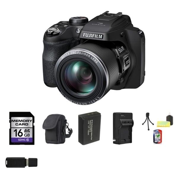 Fujifilm SL1000 16GB Black Digital Camera Bundle