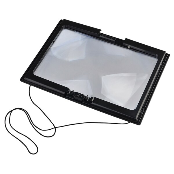INSTEN A4 Standable/ Hangable Black Magnifying Super Bright LED Light Glass