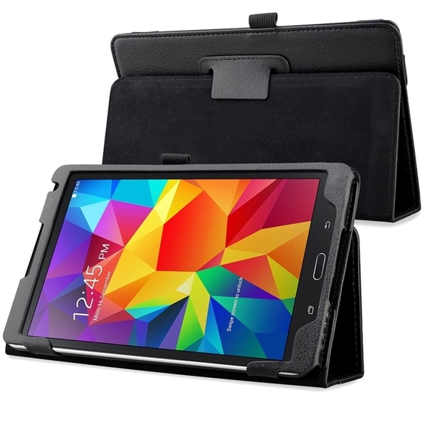 INSTEN Black Stand Leather Case for Samsung Galaxy Tab S 8.4 T700