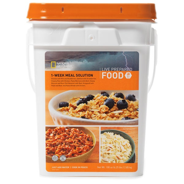 National Geographic Live Prepared 7 Day Food Supply