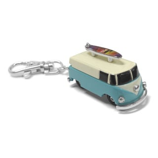 Dakota Moxie VW Bus with Surfboard Hanging Charm Clock
