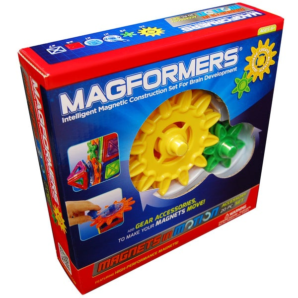 Magformers Magnets in Motion Gear Accessory Set
