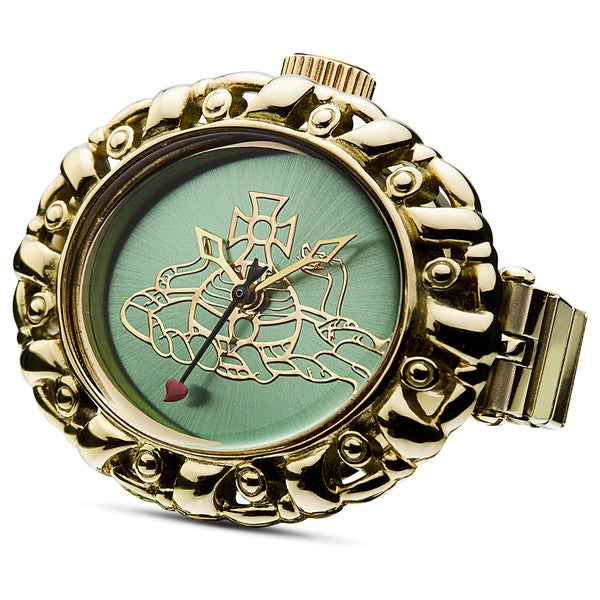 Vivienne Westwood Women's VV052GRGD Plimlico Green Dial Ring Watch
