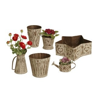 Wald Imports 6-piece Metal Planter Set