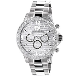 Luxurman Men's Celebrity Diamond Liberty 0.5ct Diamond Accent Watch
