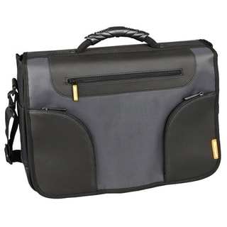 "Microsoft Edge II Carrying Case (Messenger) for 17.3"" Notebook - Blac"