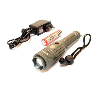 Defender 6.5-inch Heavy Duty Grey CREE T6 Multi-Purpose Flashlight