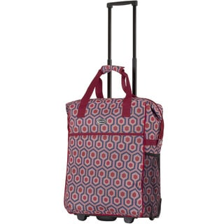 Calpak 'Big Eazy' Red Hex 20-inch Washable Rolling Shopping Tote Bag