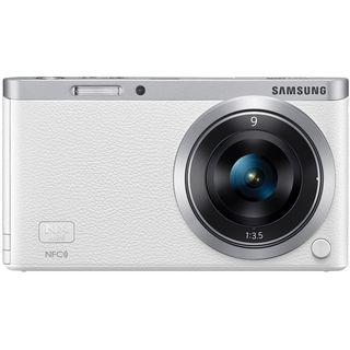 Samsung NX Mini Mirrorless White Digital Camera with 9mm Lens