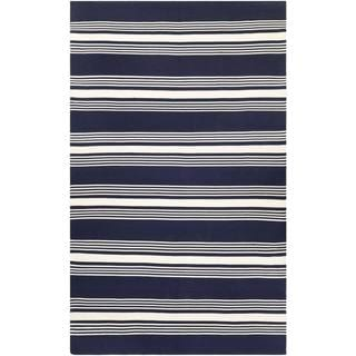 Hand-woven Couristan Grand Cayman Admiral Navy/ Ivory Rug (8' x 10')