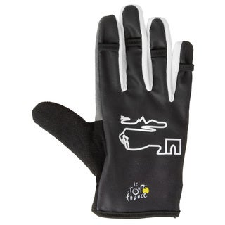Tour de France Full Finger Black Gel Gloves