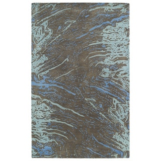 Hand-tufted Artworks Chocolate Waves Rug (9'6 x 13')