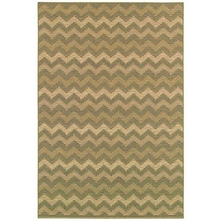 Couristan Berkshire 9470/ 6095 Alaric Gold/ Wheat Rug (5'10 x 9'2)