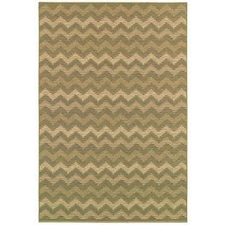 Couristan Berkshire 9470/ 6095 Alaric Gold/ Wheat Rug (5'3 x 7'6)