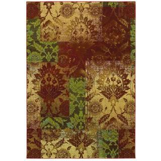 Couristan Alameda Ethereal Garden Paprika/ Beige Rug (7'10 x 11'2)
