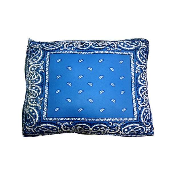 Dogzzzz Bandana Blue Rectangular Dog Bed