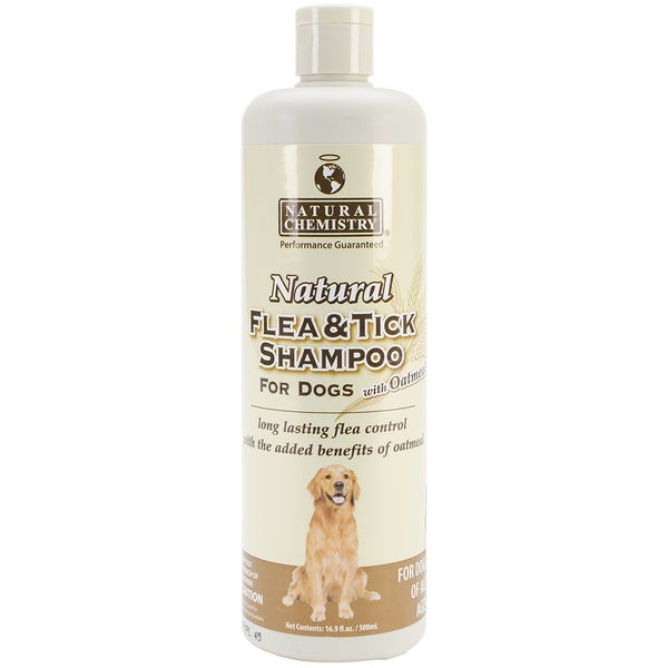 Natural Flea & Tick Shampoo W/Oatmeal For Dogs 16.9oz