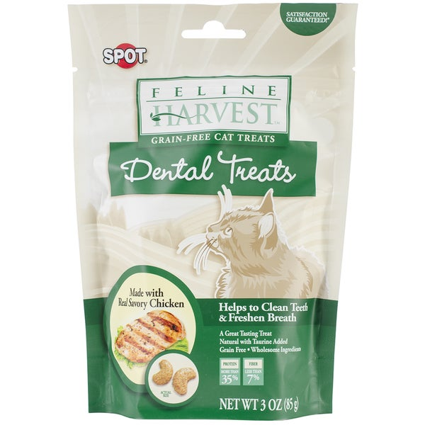 Feline Harvest Dental Treats 3oz-Chicken Flavor