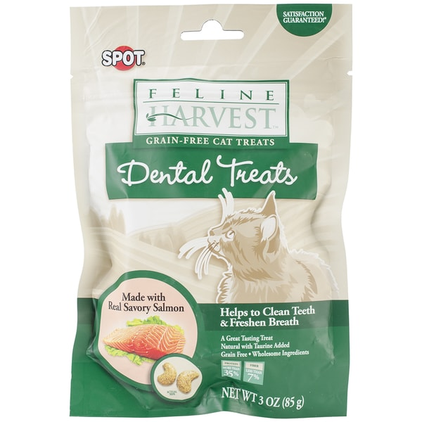 Feline Harvest Dental Treats 3oz-Salmon Flavor