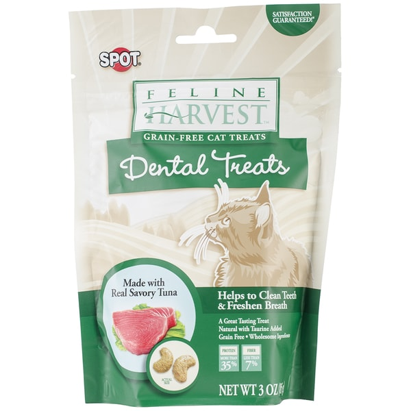 Feline Harvest Dental Treats 3oz-Tuna Flavor