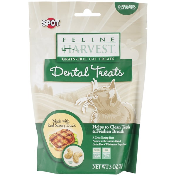 Feline Harvest Dental Treats 3oz-Duck Flavor