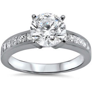 Noori 18k White Gold 1 1/6ct TDW Certified Diamond Engagement Ring (G-H, SI1-SI2)