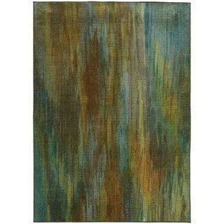 Pantone Universe Prismatic Green/ Blue Rug (9'8 x 12'1)