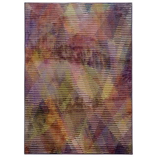 Pantone Universe Prismatic Purple/ Lavender Rug (6'7 x 9'6)