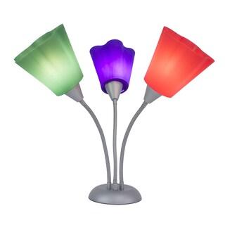 Multi-colored 3-light Task Lamp