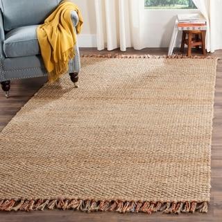 Safavieh Hand-woven Natural Fiber Natural/ Multi Jute Rug (6' x 9')