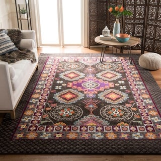 Safavieh Monaco Brown/ Multi Rug (6'7 x 9'2)