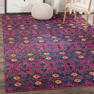 Safavieh Monaco Pink/ Multi Rug (6'7 x 9'2)