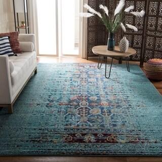 Safavieh Monaco Blue/ Multi Rug (6'7 x 9'2)