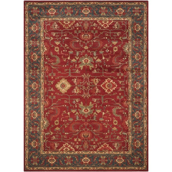 Safavieh mahal red navy rug 9 39 x 12 39 16687828 for Red and navy rug